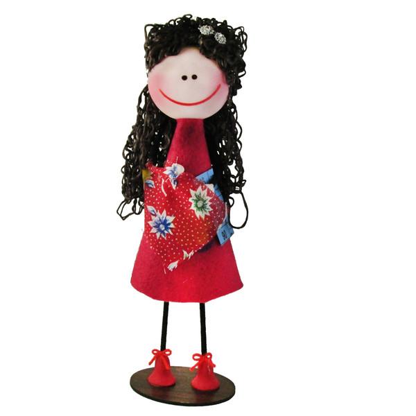 عروسک طرح سوزی مدل الیکا کد elk1002 ارتفاع 25 سانتی متر