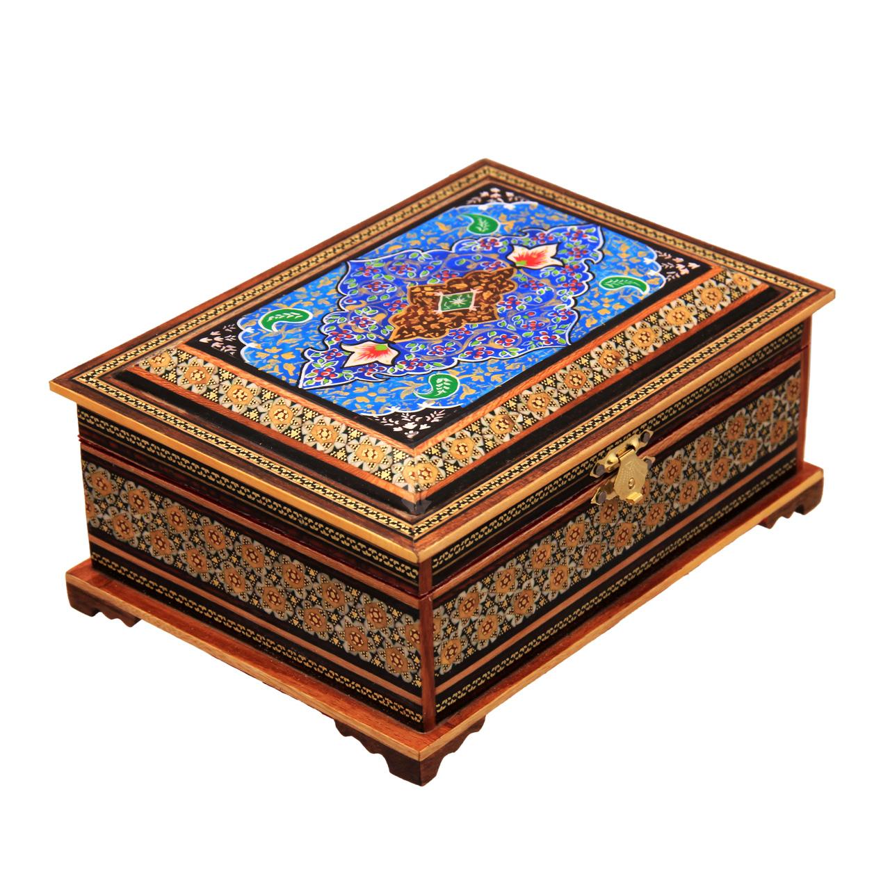 جعبه جواهرات خاتم کاری کد 9-70153