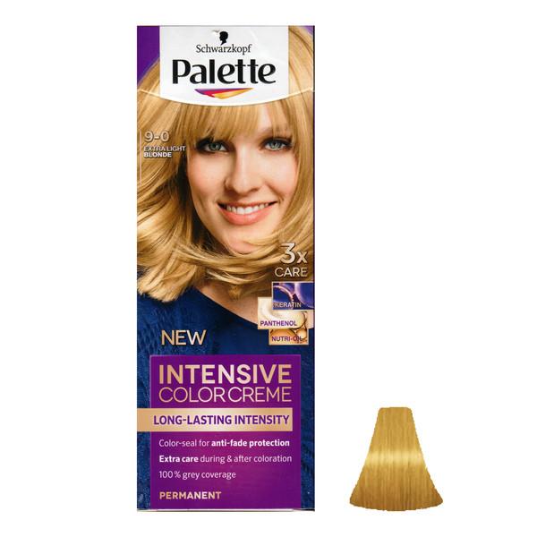 کیت رنگ مو پلت سری Intensive شماره 0-9 حجم ۵۰ میلی لیتررنگ بلوند روشن