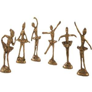 مجسمه برنزی طرح گروه بالرین مجموعه 6 عددی