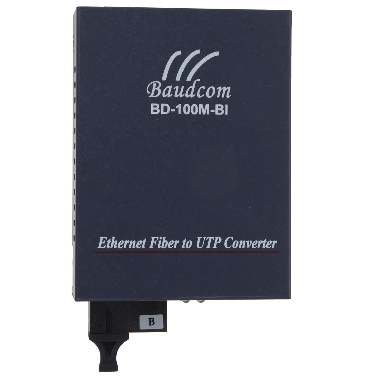 مبدل فیبر نوری به اترنت تک حالته بادکام مدل BD-100M-BI Tx1550nm