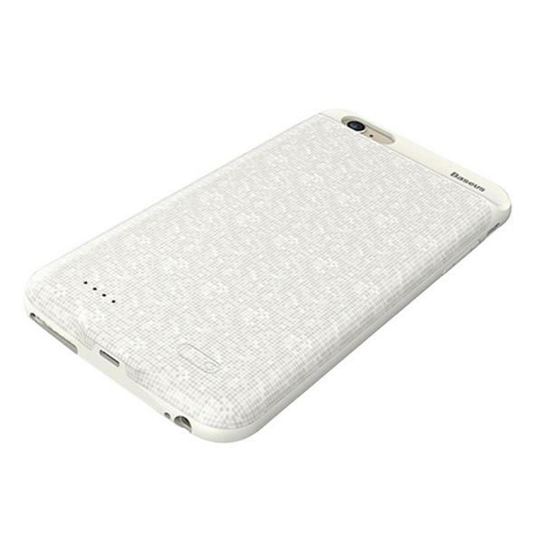 کاور شارژ باسئوس مدل Plaid Backpack ظرفیت 3650 میلی آمپر ساعت مناسب برای گوشی موبایل اپل iPhone 6 Plus