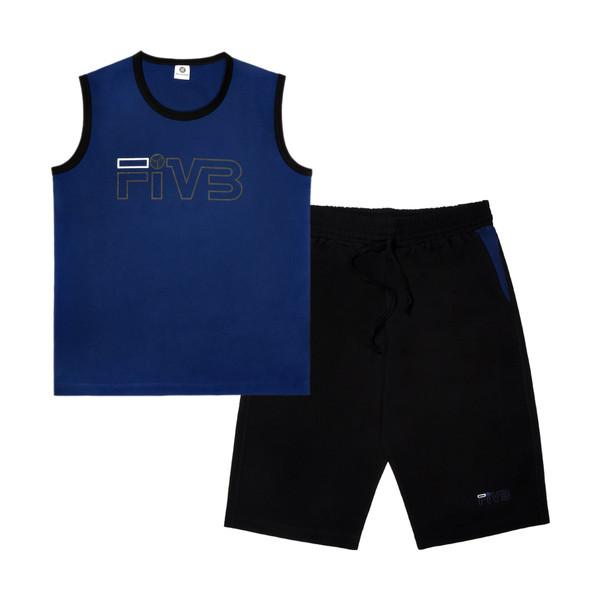 ست تاپ و شلوارک مردانه پندار طرح Fivb کد C1