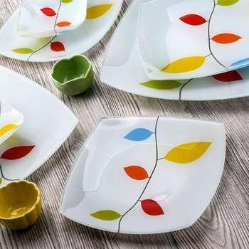 سرویس 25 پارچه غذاخوری شیشه ای آرکوفام طرح رویا