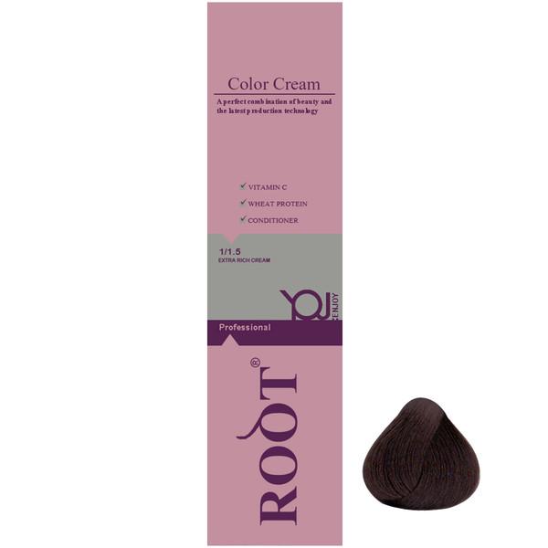 رنگ موی روت شماره 4.0 حجم 120 میلی لیتر رنگ قهوه ای تیره