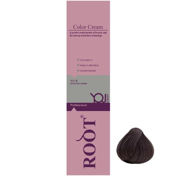 رنگ موی روت شماره 4.1 حجم 120 میلی لیتر رنگ قهوه ای خاکستری