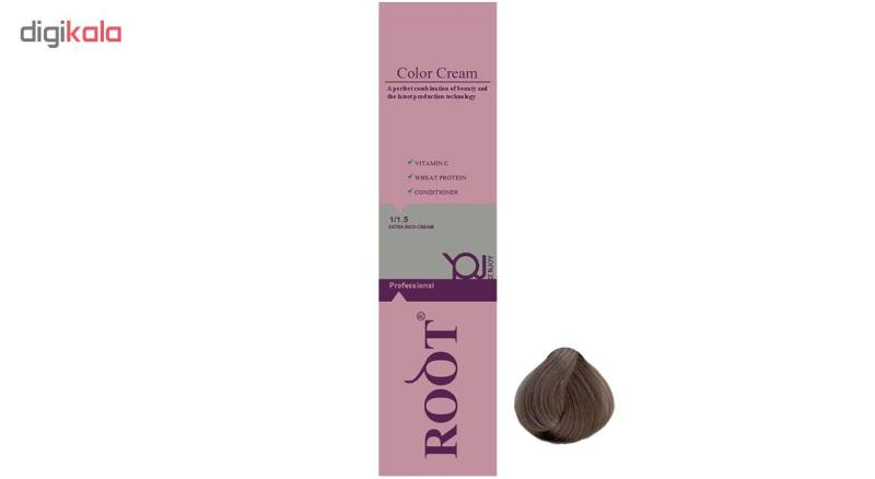 رنگ موی روت شماره 6.1 حجم 120 میلی لیتر رنگ بلوند خاکستری تیره