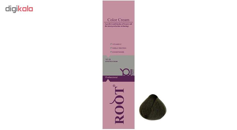 رنگ موی روت شماره 4.3 حجم 120 میلی لیتر رنگ قهوه ای زیتونی متوسط