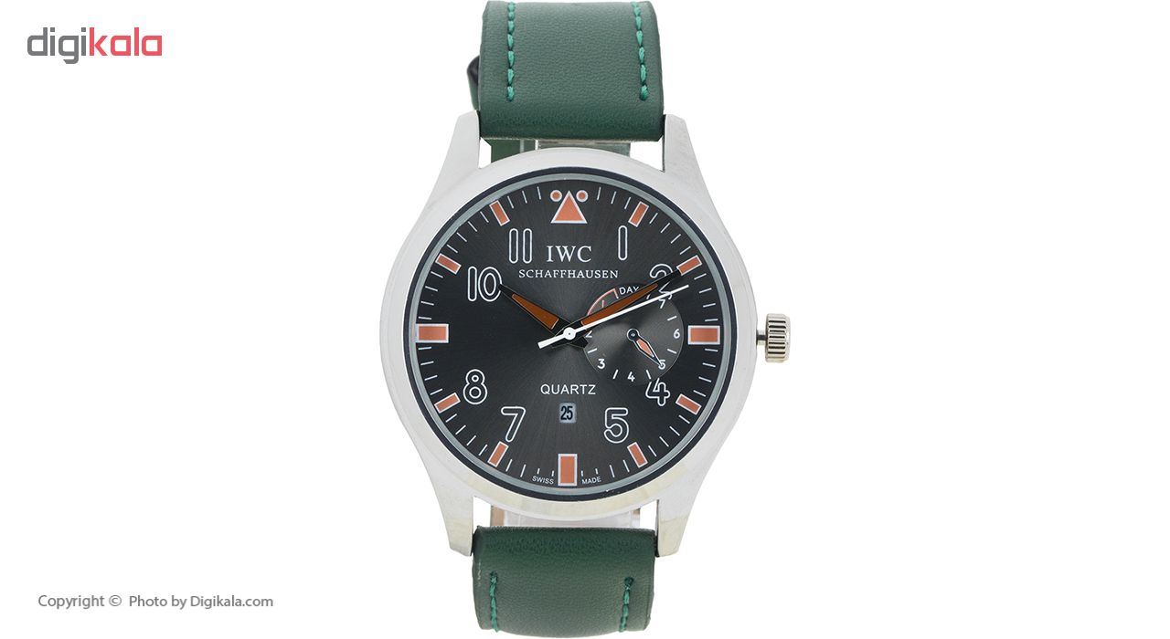 ساعت مچی عقربه ای مردانه شاف هاووسن مدل Iwc-green