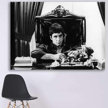 تابلو شاسی گالری استاربوی طرح فیلم Scarface مدل Al Pacino 1