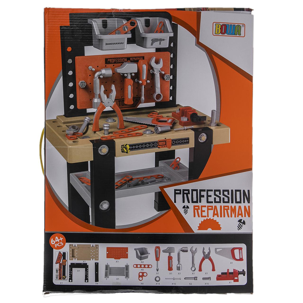 میز ابزار کودک بووا مدل PROFESSION REPAIRMAN کد 8013