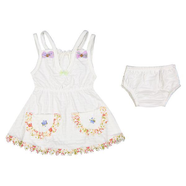 ست لباس دخترانه طرح بهار 01