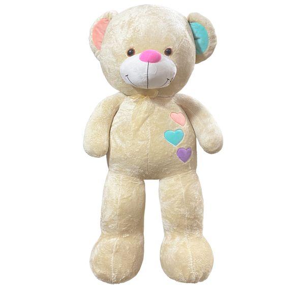 عروسکمدل خرس سه قلب کد 15513 ارتفاع 120 سانتی متر