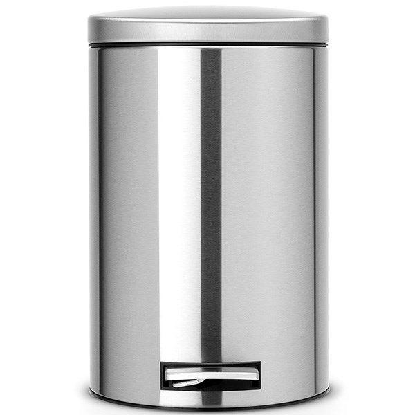 سطل زباله پدالی استیل مات 12 لیتری برابانتیا