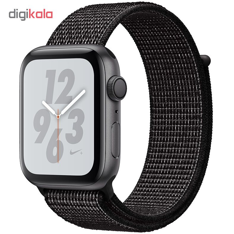 ساعت هوشمند اپل واچ سری 4 مدل Nike 44mm Space Gray Aluminum Case with Black Nike Sport Loop