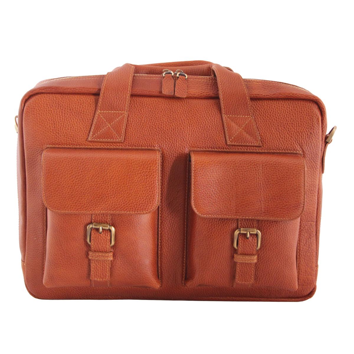 کیف اداری چرم طبیعی فلوتر آدین چرم مدل DL49.1