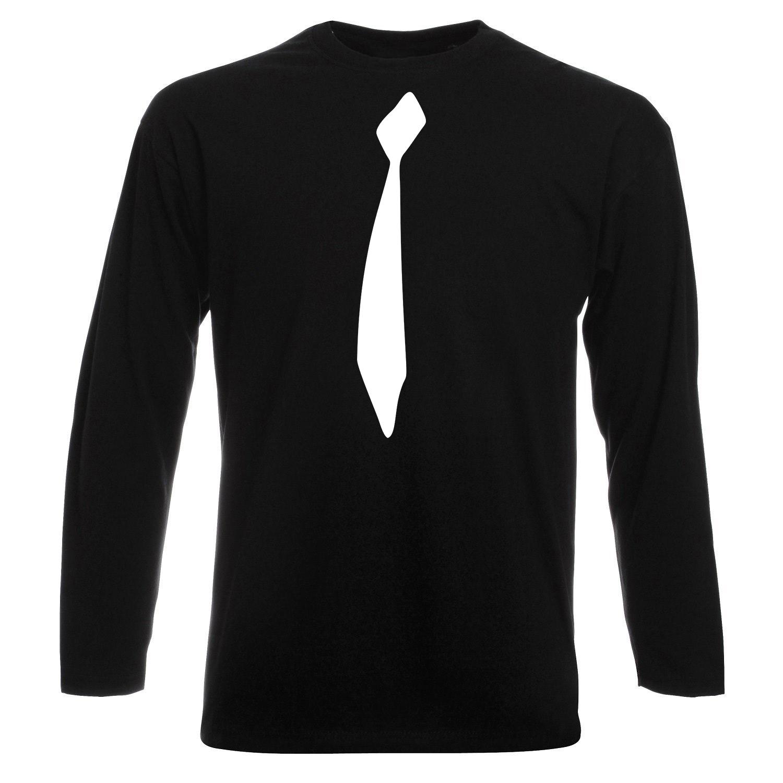قیمت تی شرت آستین بلند مردانه طرح کروات کد BW17065
