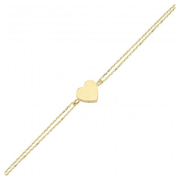 دستبند طلا 18 عیار نیکان زر مدل GB101