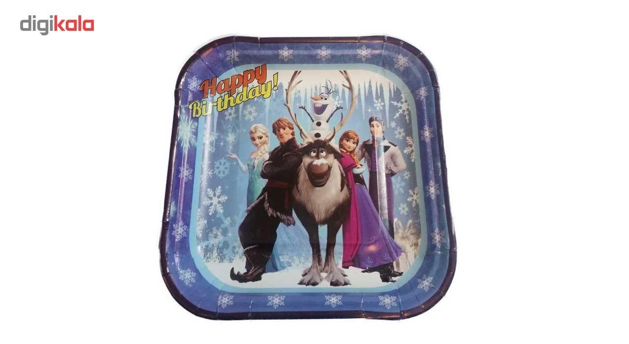پیش دستی و لیوان یکبار مصرف مدل Frozen مجموعه 40 عددی main 1 1