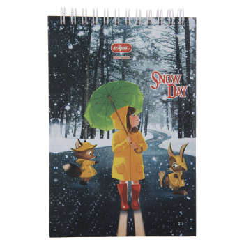 دفترچه یادداشت کلیپس طرح Snow Day کد 300247
