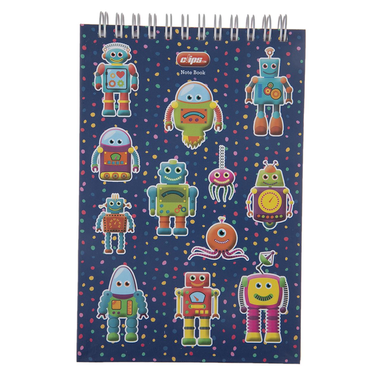 دفترچه یادداشت کلیپس طرح Robot کد 300247