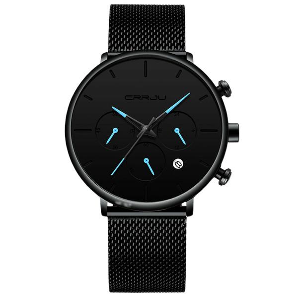 ساعت مچی عقربهای مردانه سی آر آر جی یو مدل blue3 2721