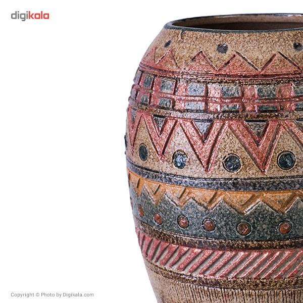 گلدان سفالی کارگاه مهر باستان مدل کندو سایز کوچک