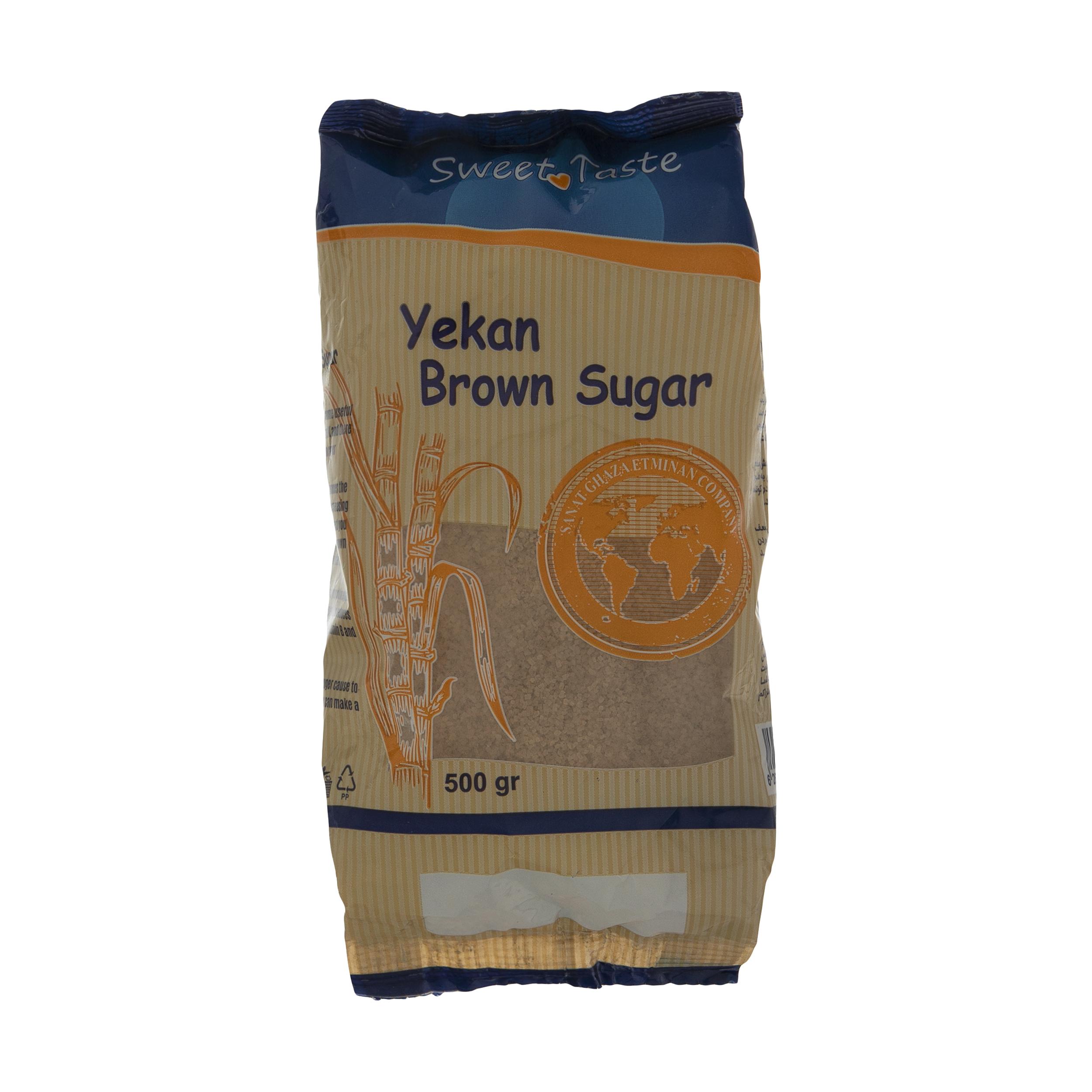 شکر قهوه ای یکان - 500 گرم