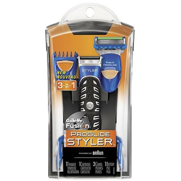 خود تراش ژیلت مدل Fusion Power Styler همراه با 3 سری شانه