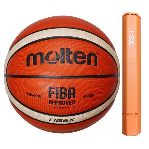 توپ بسکتبال مولتن مدل GG6X به همراه تلمبه فاکس