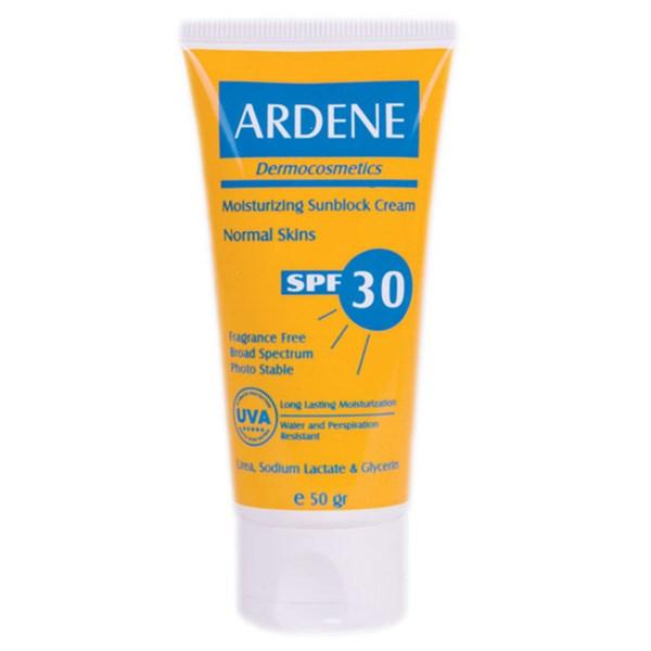قیمت کرم ضد آفتاب مرطوب کننده آردن SPF30