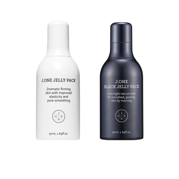 پک مراقبت و جوانسازی پوست جی وان مدل Black & White مجموعه 2 عددی