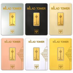 شمش طلا 24 عیار طلای محمد طرح برج میلاد C مجموعه 6 عددی