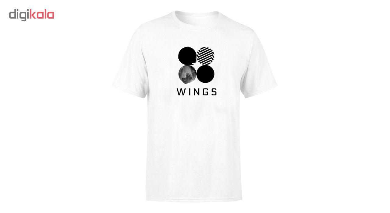 تی شرت مردانه طرح Wings Bts کد 142