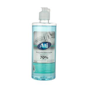محلول ضدعفونی کننده دست و سطوح آتی مدل آبی حجم 500 میلی لیتر