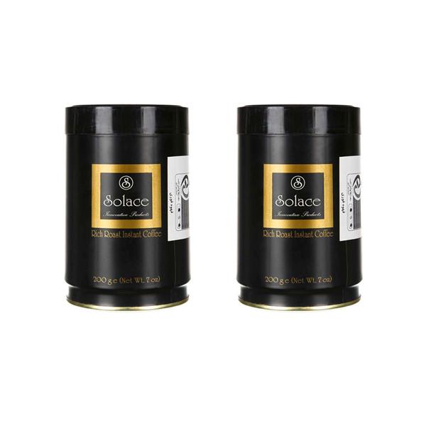 قهوه فوری سولیس مدل RICH ROAST مقدار 200 گرم مجموعه 2 عددی