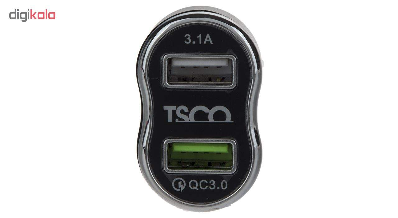 شارژر فندکی تسکو مدل TCG 21 به همراه کابل تبدیل USB به microUSB main 1 2