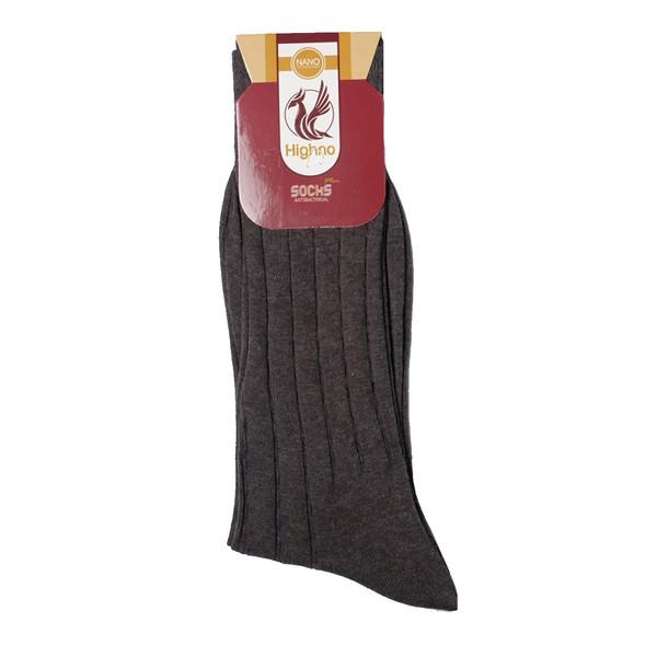 جوراب مردانه نانو آنتی باکتریال هاینو مدل 04-1082