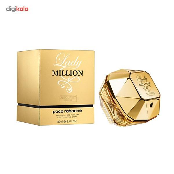 ادو پرفیوم زنانه پاکو رابان مدل Lady Million Absolutely Gold حجم 80 میلی لیتر