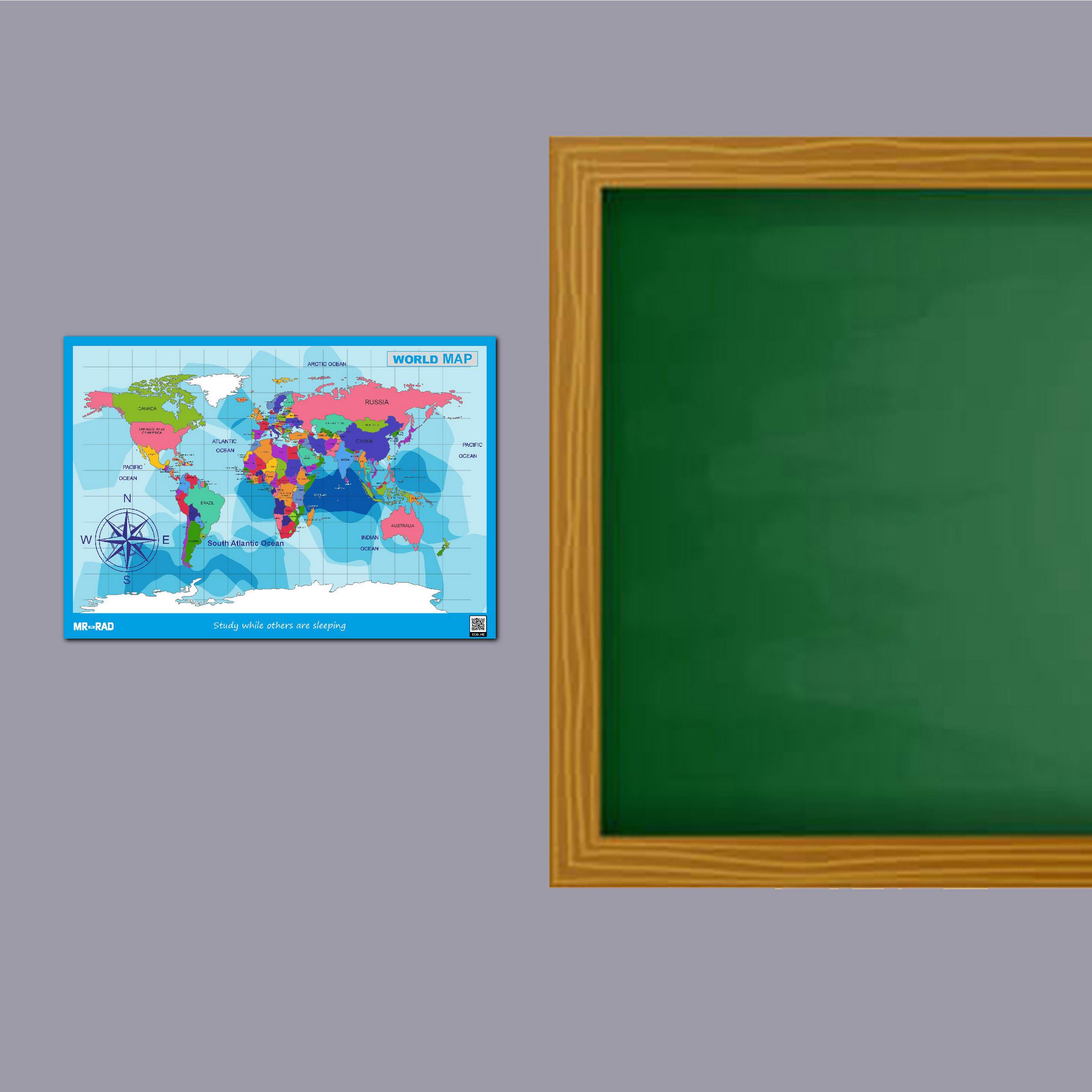 پوستر آموزشی FG طرح نقشه جهان مدل M9060