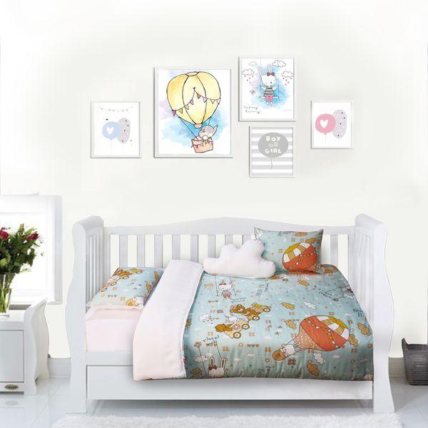 سرویس خواب 6 تکه کودک مدل خرگوش و بالن