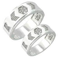 ست انگشتر نقره زنانه و مردانه,