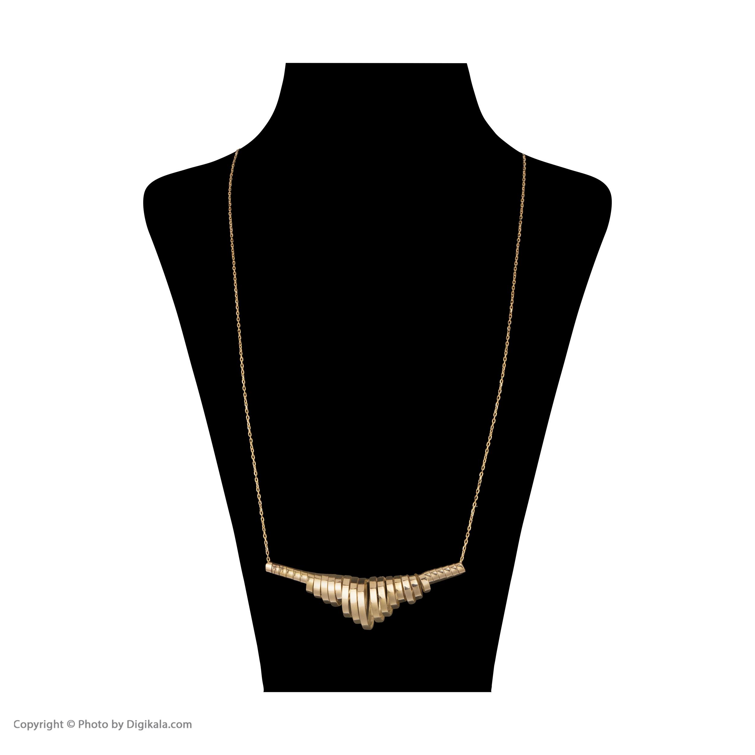 گردنبند طلا 18 عیار زنانه سنجاق مدل X071304 -  - 2
