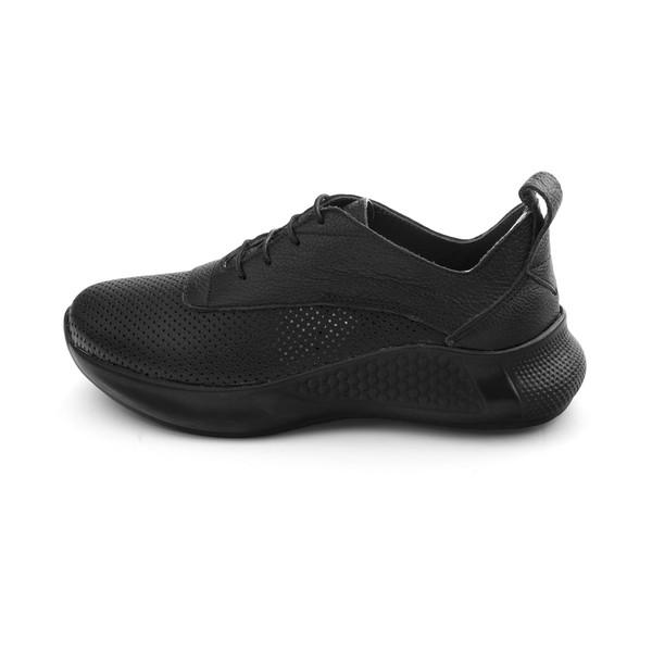 کفش روزمره زنانه مارال چرم مدل مادیرا 601-Black