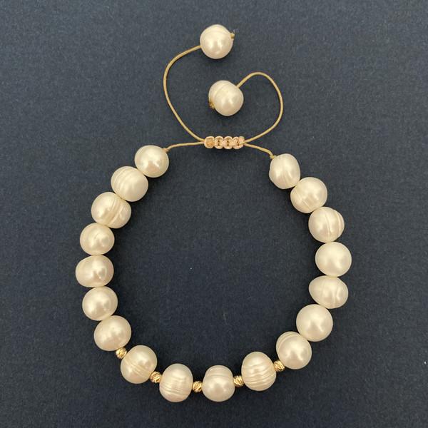 دستبند طلا 18 عیار زنانه الماسین آذر طرح گوی مدل ALBER03