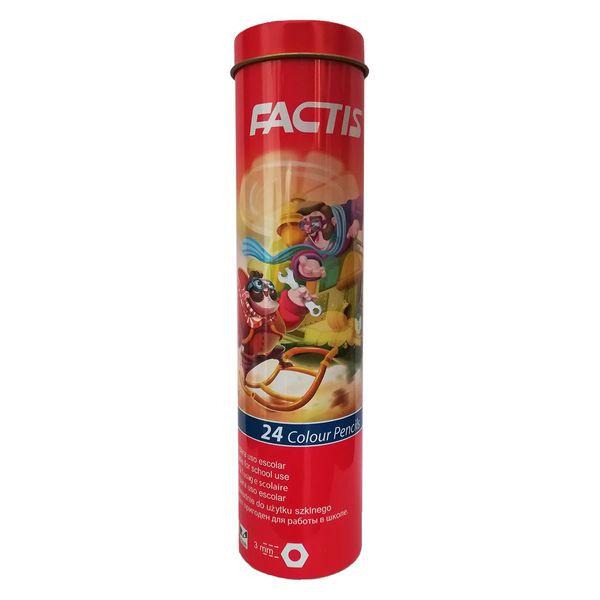 مداد رنگی 24 رنگ فکتیس مدل استوانه ای
