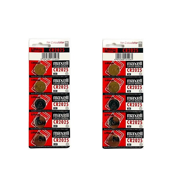 بررسی و {خرید با تخفیف} باتری سکه ای مکسل مدل Cr2025 بسته ۱۰ عددی اصل