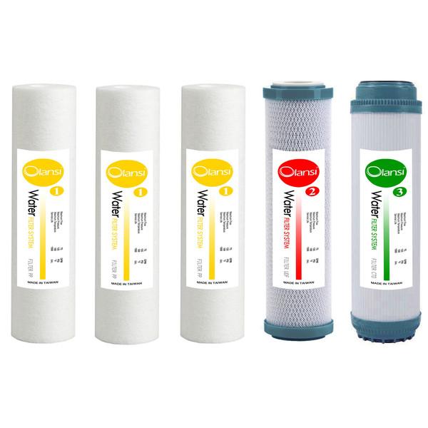 فیلتر دستگاه تصفیه آب اولانسی مدل EXTRA PP-2 مجموعه 5 عددی