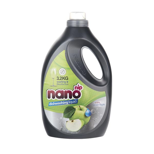 مایع ظرفشویی نانو نیپ مدل Green Apple مقدار 3200 گرم