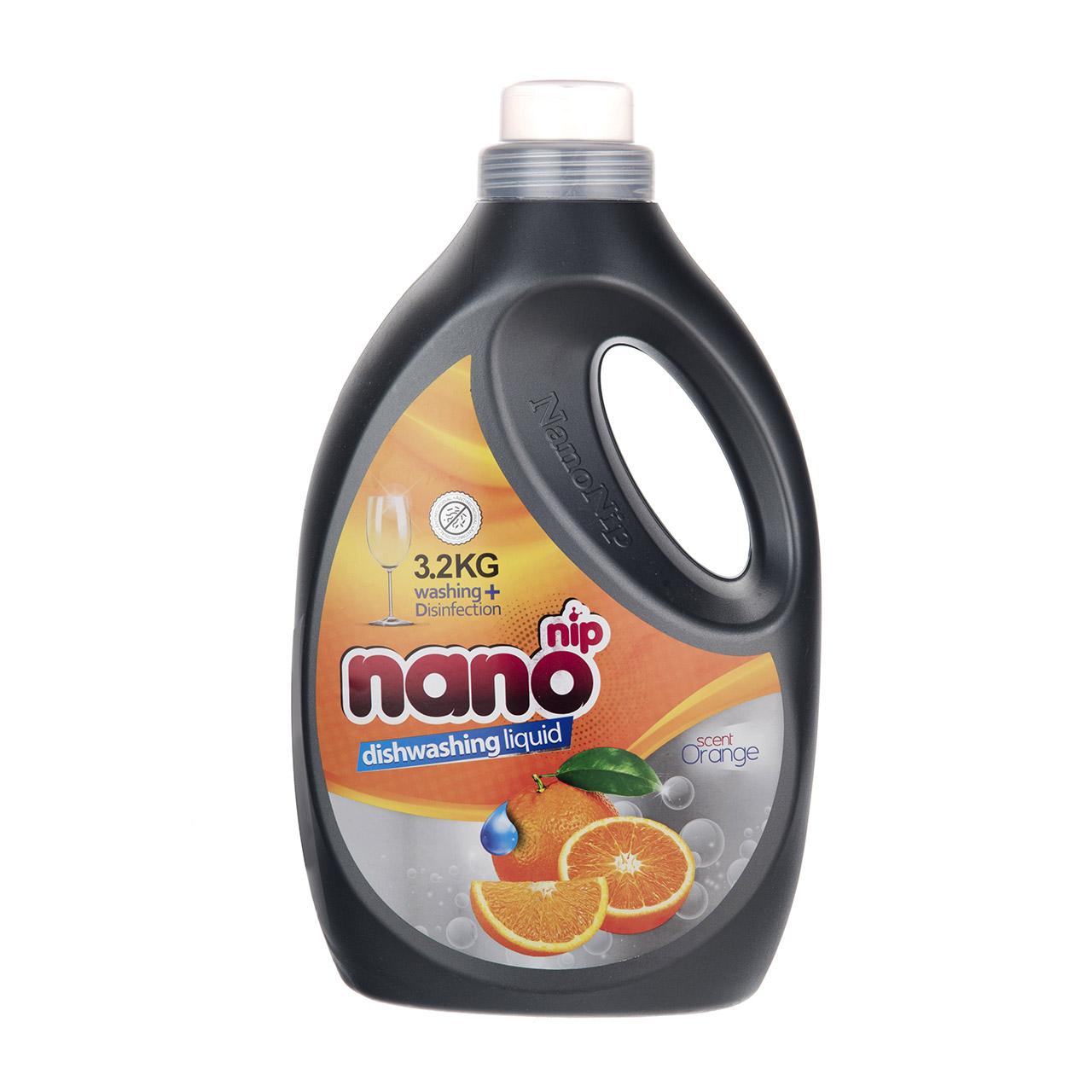 مایع ظرفشویی نانو نیپ مدل Orange مقدار 3200 گرم